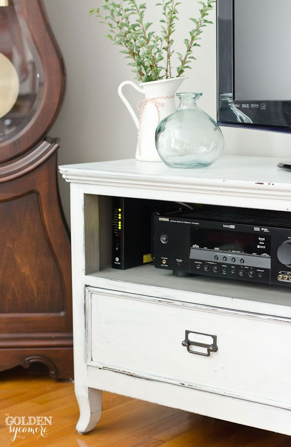milk painted tv console the golden sycamore