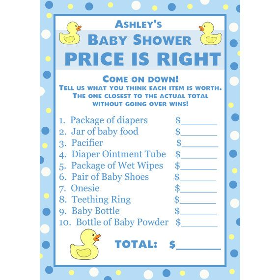 Image Of The Price Is Right Game For Baby Shower Amazoncom Is It The