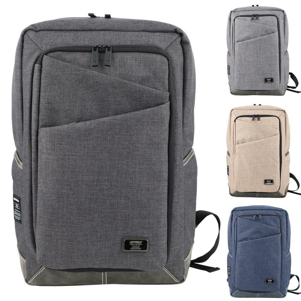 Mens Canvas Laptop School Backpacks Vintage Casual Business Square Bookbag JF627