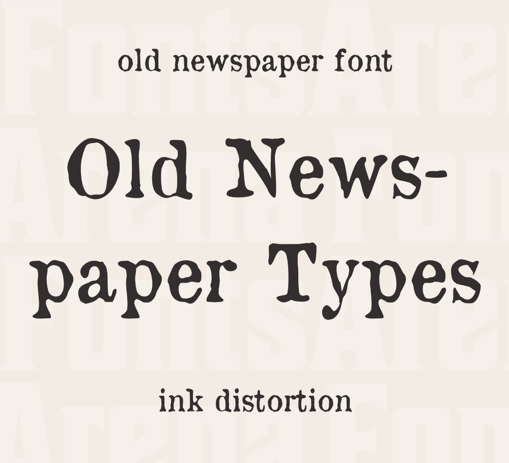Free Font Old Newspaper Types By Manfred Klein Fontsarena In 2020 Old Newspaper Vintage Newspaper Lettering