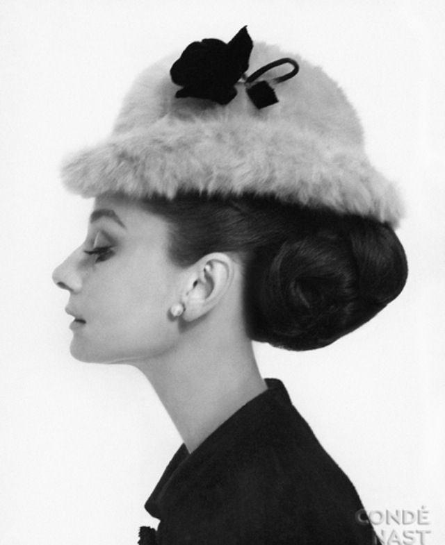 Side profile of Audrey Hepburn