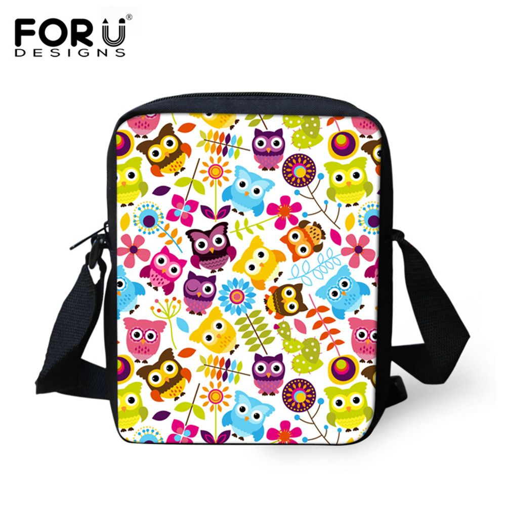FORUDESIGNS Cute Character Printed School Bags for Girls Children Kids Mini  Schoolbag Kindergarten Baby Bookbag Mochila 5184d033df86e