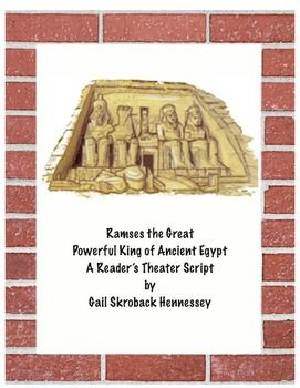 This Reader's Theater Script give students lots of information on the famous pharaoh… | Readers theater, Readers theater scripts, 6th grade ...