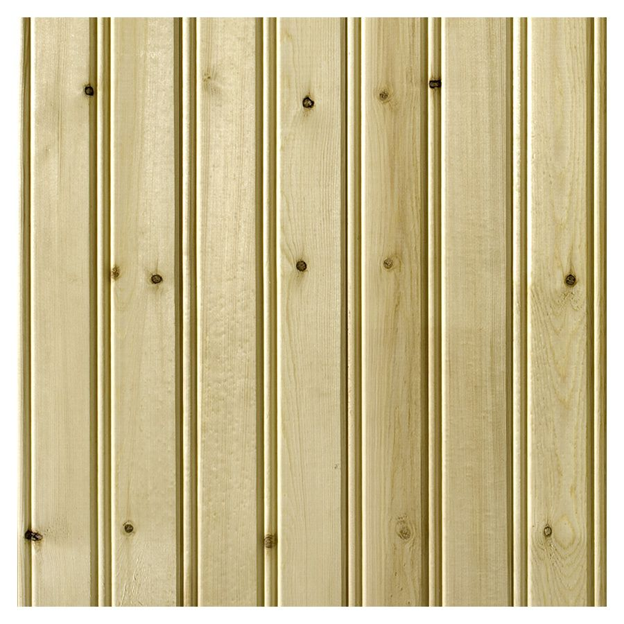 Empire Company 3.5625-in x 8-ft Edge and Center Bead Raw Pine Wood ...