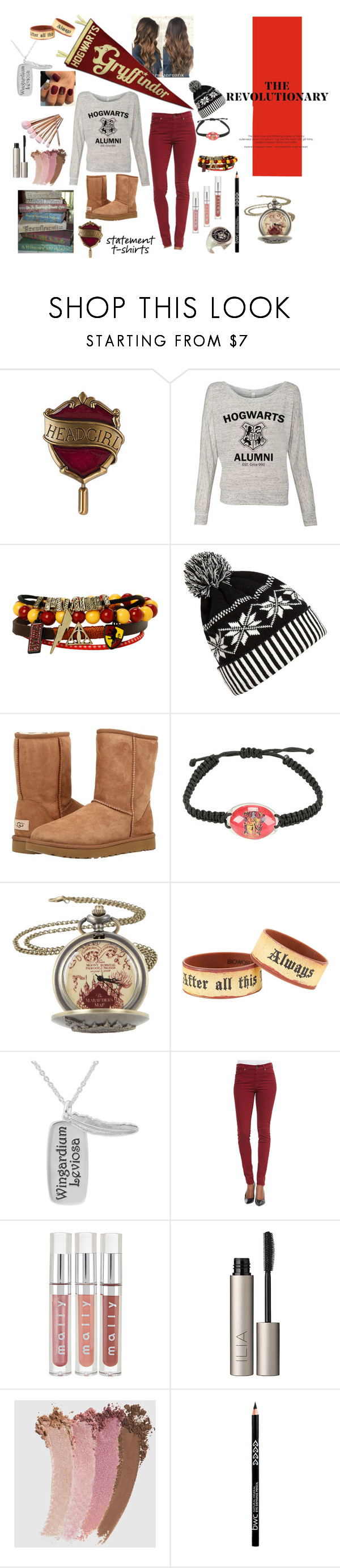 """Can you say Gryffindor Graduate"" by designed-by-me ❤ liked on Polyvore featuring Warner Bros., WithChic, UGG Australia, 7 For All Mankind, Ilia, Gucci and harrypotter"