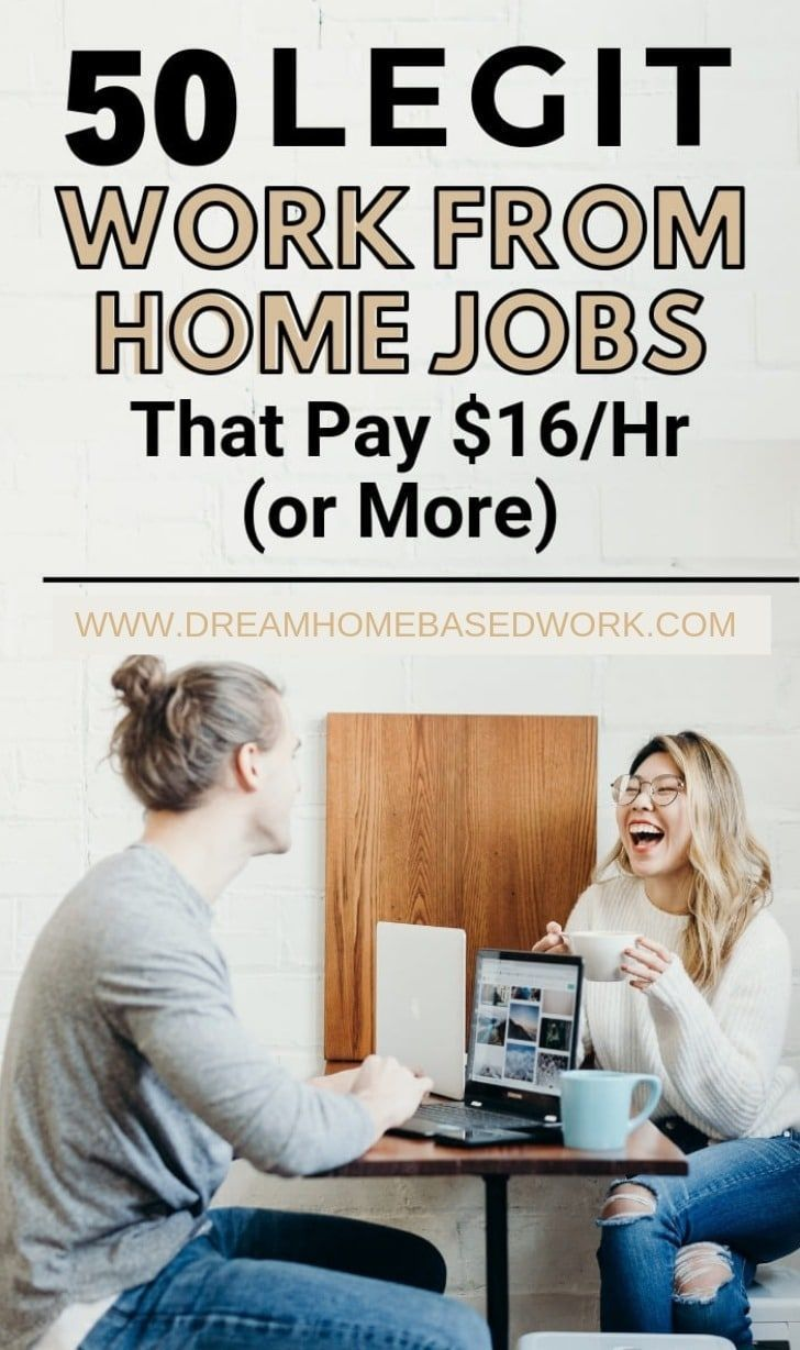 50 legit work from home jobs that pay 16 per hour or