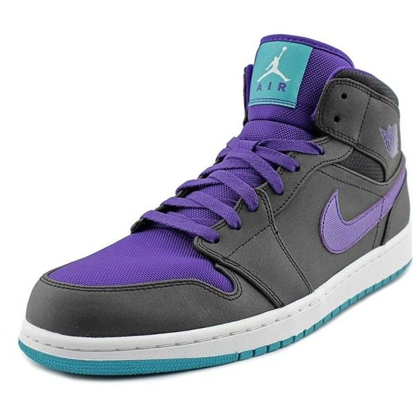 9295a34f4286 Nike Nike Air Jordan 1 Mid Round Toe Leather Basketball Shoe ( 127) ❤ liked