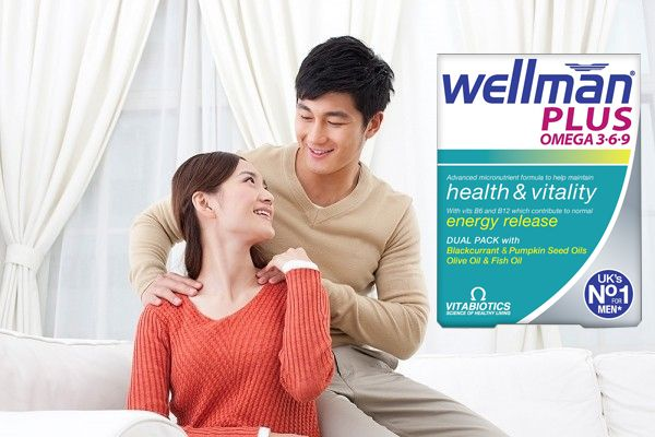 Vien Uống Vitamin Wellman Plus Omega 3 6 9 Cho Nam Tren 20