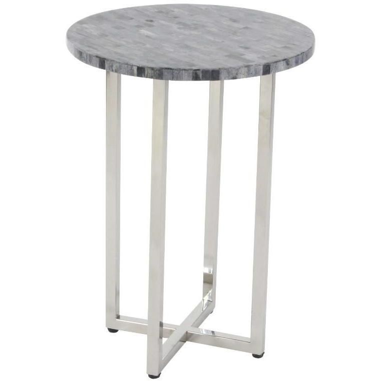Radiant Stainless Steel Round Table