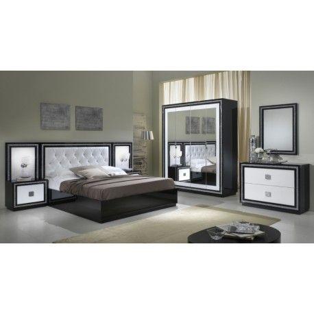 Chambre KRISTEL noir et blanc CHAMBRES Pinterest