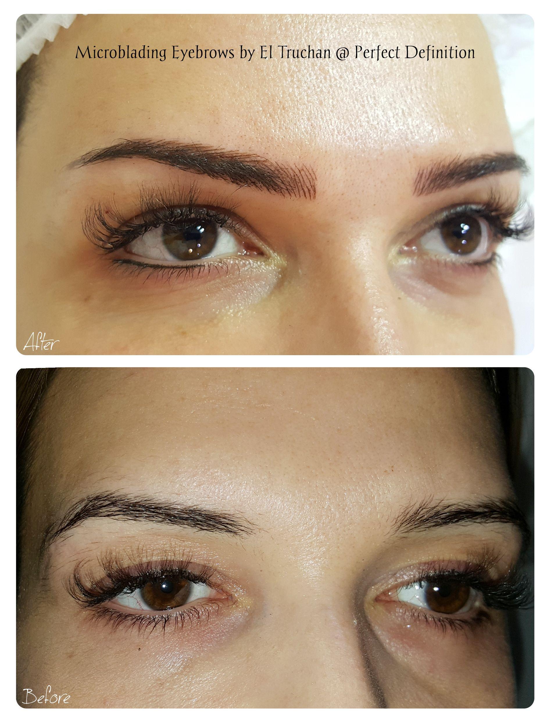Microblading eyebrows by el truchan perfect definition
