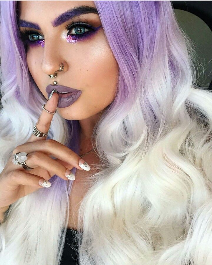 Lavender pastel purple ombre dyed hair color @missjazminad
