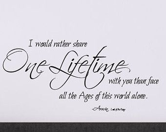 Lord of the rings romantic quotes