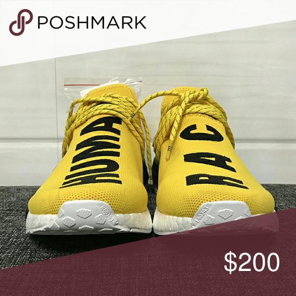 49f6d6dd1 Pharrell Williams Adidas Human Race NMD PW Yellow Size 5-13(men   women)
