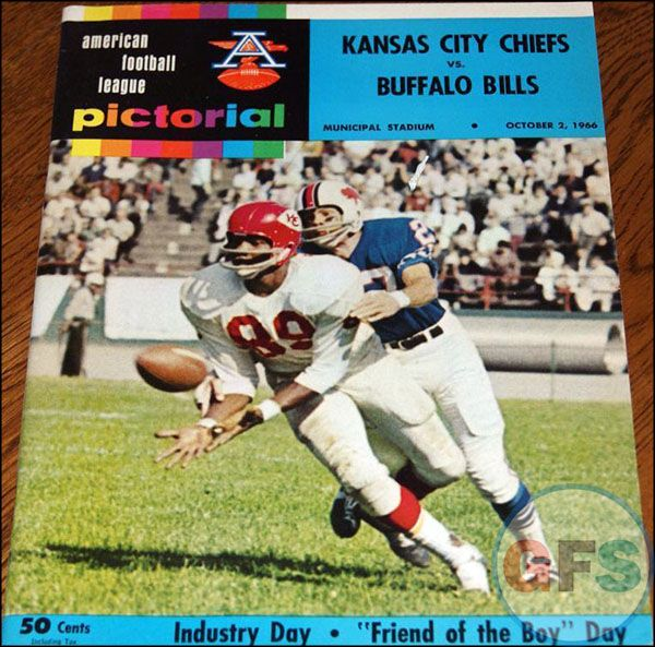 AFL Game Program: Kansas City Chiefs vs. Buffalo Bills ...