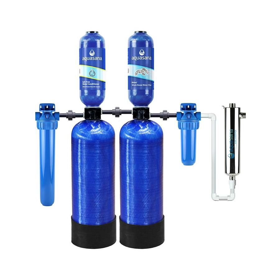 Aquasana Well Water Triple Stage 7 Gpm Charcoal Whole House Water Filtration System Eq Well Uv Ast In 2020 Whole House Water Filter Water Filtration System House Water Filter