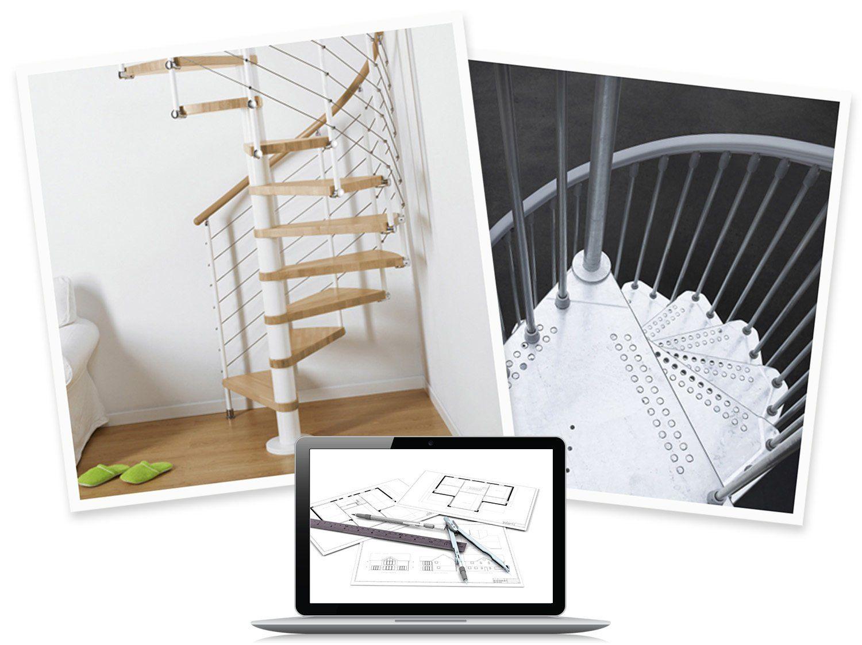 Configurer Mon Escalier En Colimacon Ring Ringline Ou Cube Cubeline Leroy Merlin Escalier En Colimacon Couler Dalle Beton Escalier
