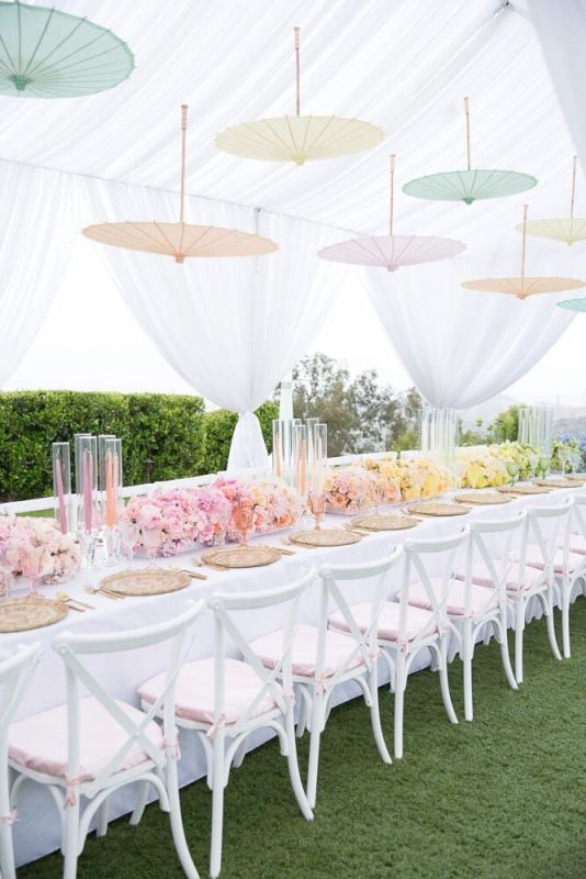 Gorgeous Pastel Ombre Bridal Shower With Suspending