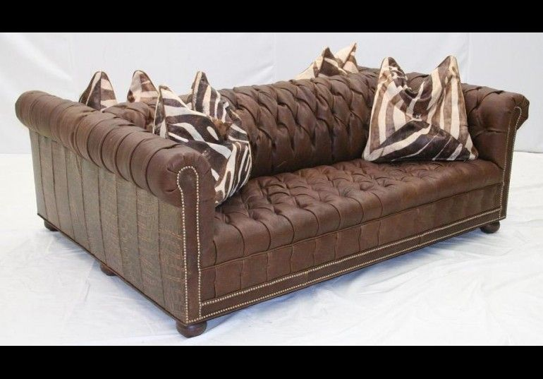 Awe Inspiring Double Sided Tufted Leather Sofa High End Furniture Bralicious Painted Fabric Chair Ideas Braliciousco