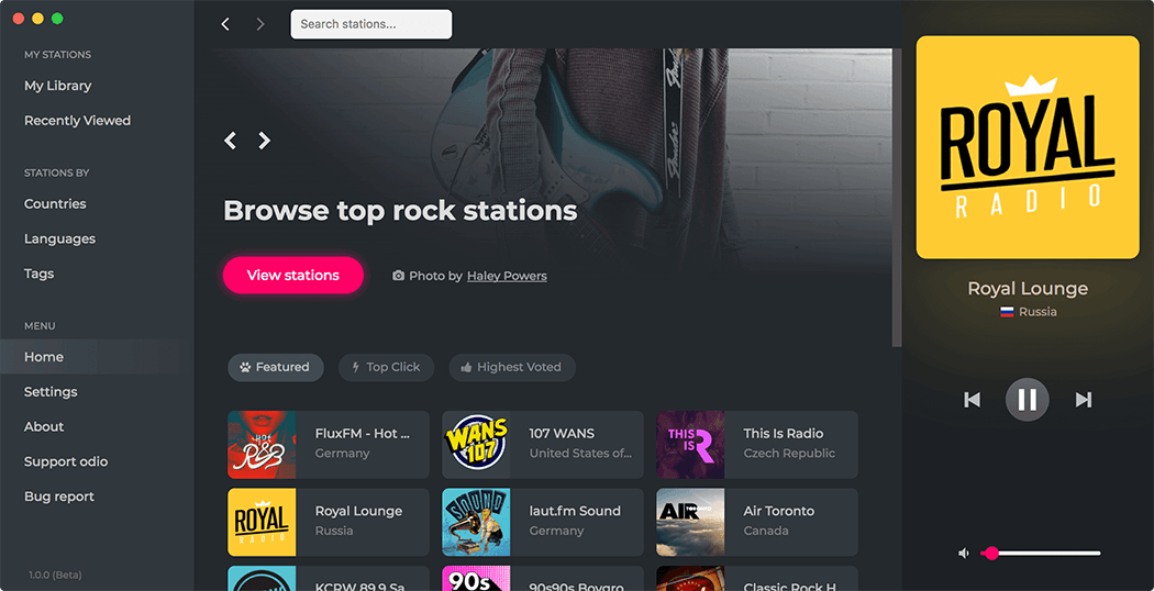 Free radio streaming software for Windows, Mac & Linux. in