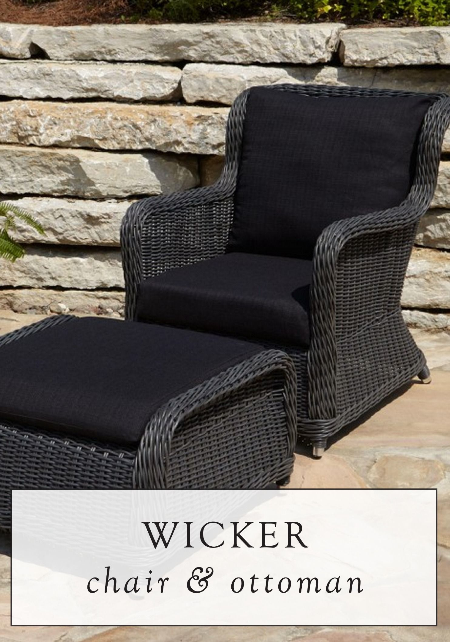 This Weather Resistant Wicker Chair And Ottoman Set Makes A Great Stand Alone Piece For Small Patio Or Wonderful Starting Point Large Outdoor
