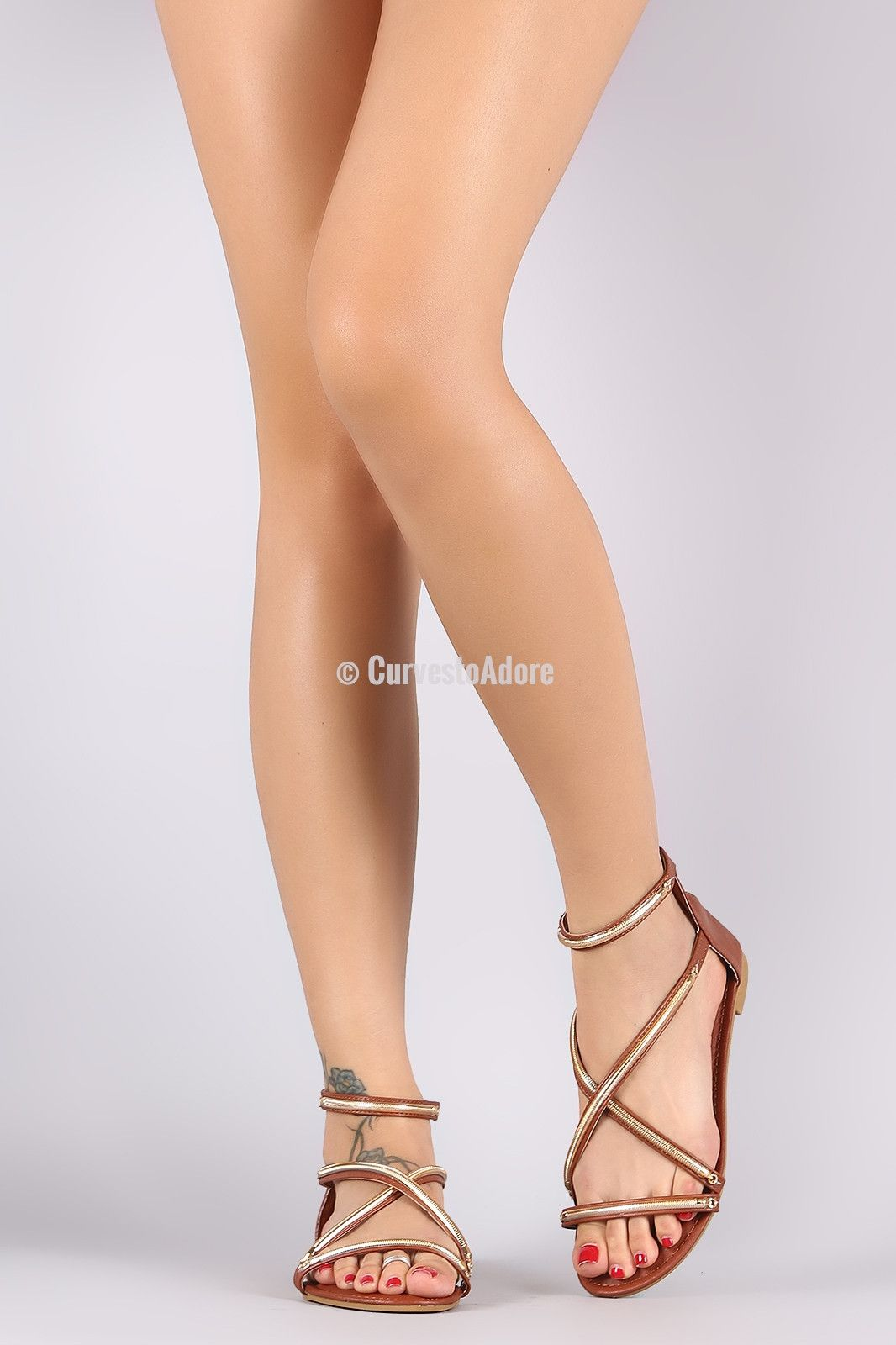 e0c439e9ff1b4 Bamboo Crisscross Metal Hardware Flat Sandal. SPRING IS SO HERE! This is  definitely your kind of fashion!   PlusSizeFashion  CurvestoAdore   PlusisSexy ...