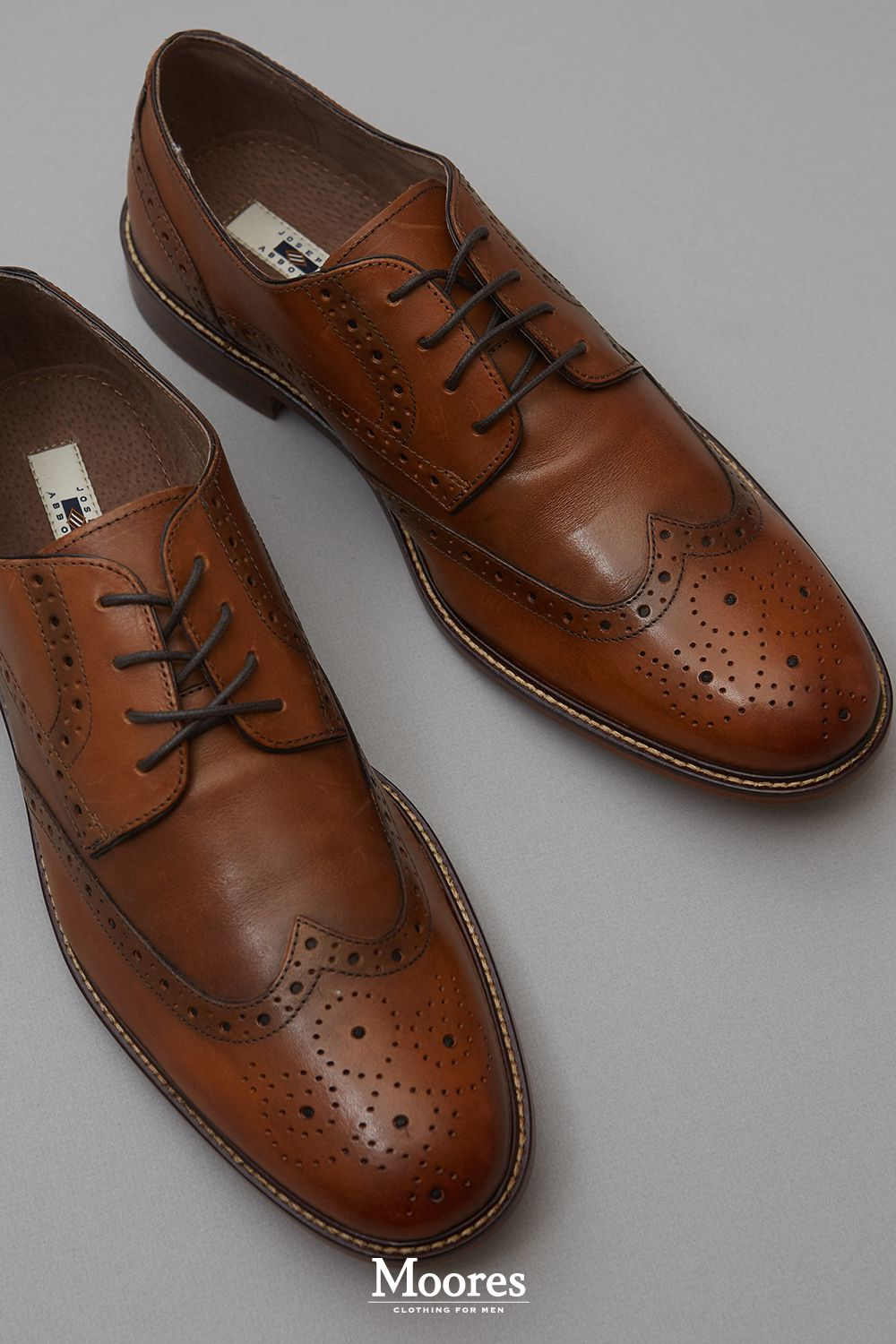 922e646b362 Every wardrobe needs a pair of #JosephAbboud tan wingtips. Get yours ...