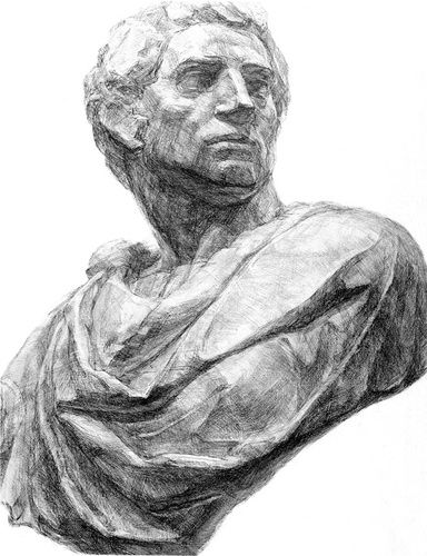 石膏 像 デッサン