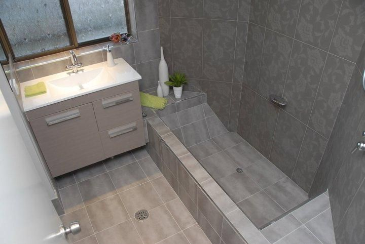 Small Bath With Sunken Tub Shower With Images Small Bathroom