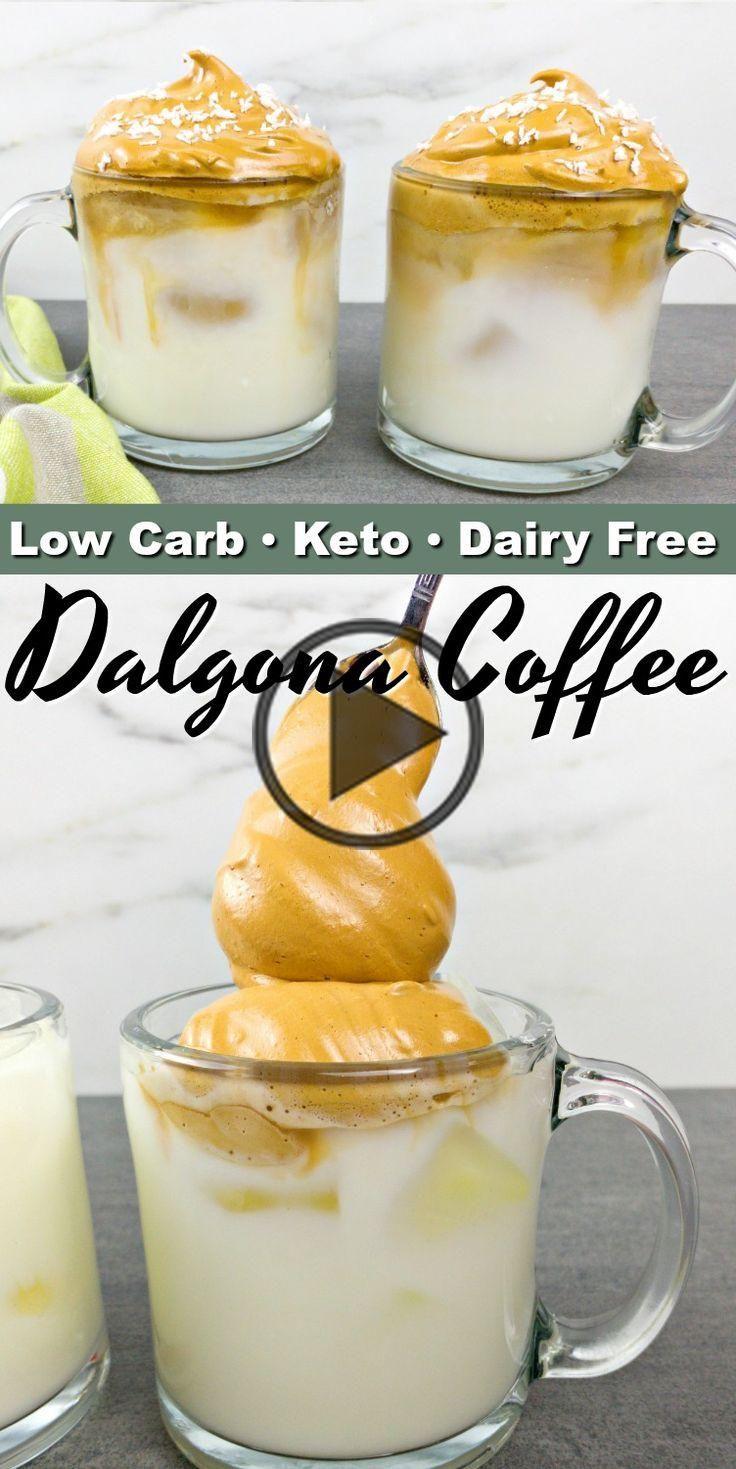 Keto Dalgona Coffee in 2020 Coffee recipes, Dalgona