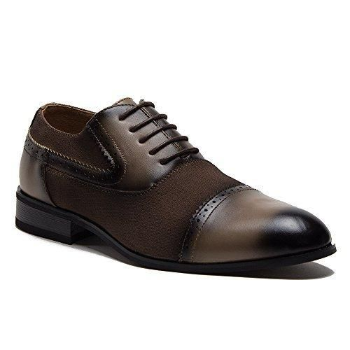 New Men's 36829 Leather Lined Perforated Cap Toe Oxford Dress Shoes