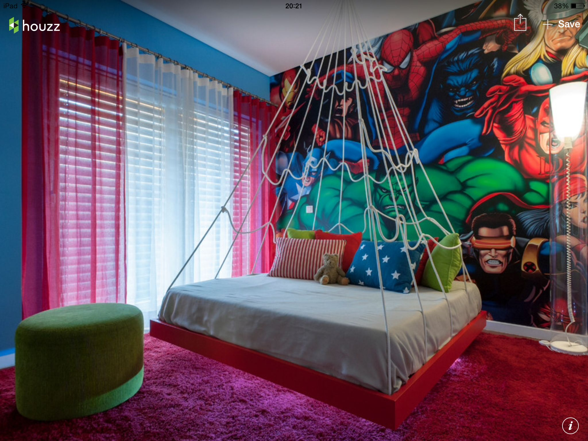Spiderman themed room marvel comic spidey room for Man u bedroom stuff