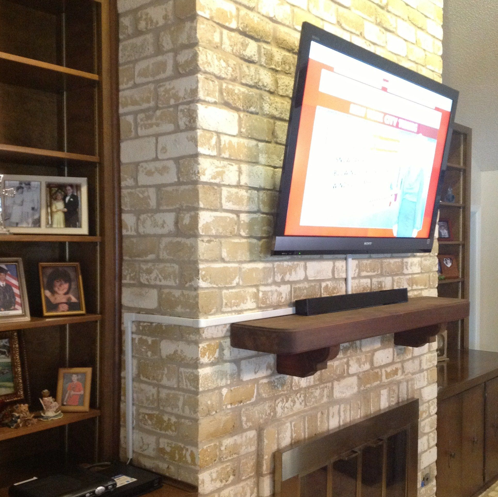 Vesta Tv Installation Over A Fireplace Pictures Wall Mounted Tv