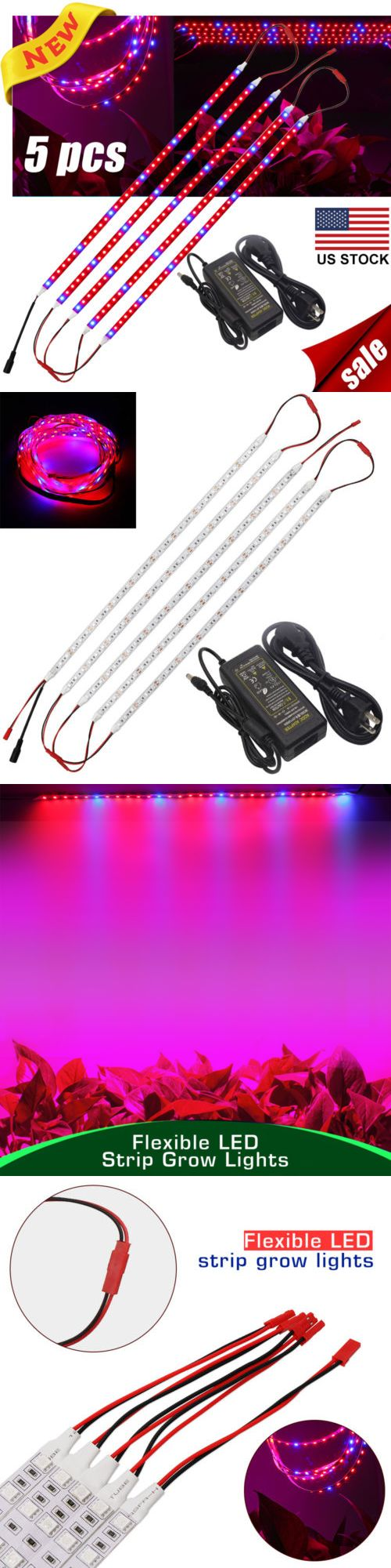 Grow Light Kits 178989 5x Led Grow Light Strip Lamp Smd 5050 Dc 12v Full Spectrum For Plants Veg Flower Bu Led Grow Lights Grow Lights Led Grow Light Bulbs