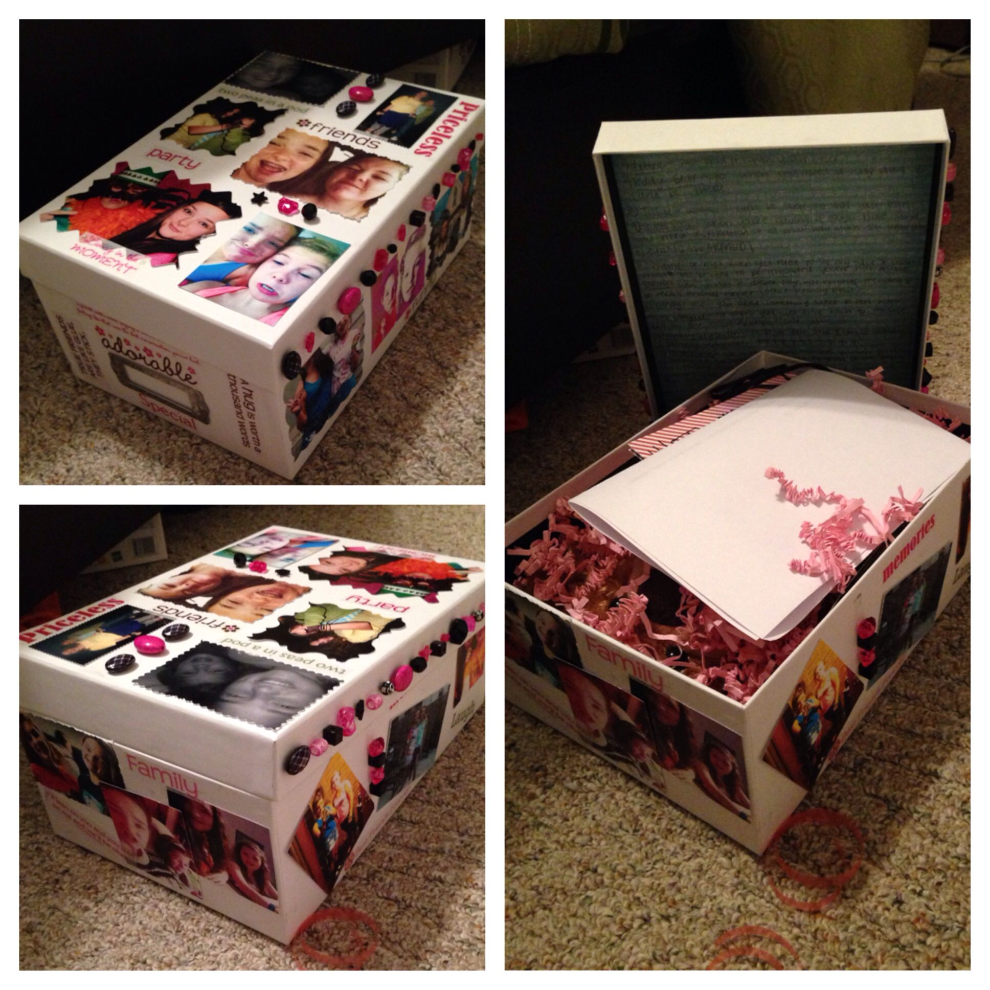 Simple Memory Box I Made For My Best Friend Her Birthday Love It