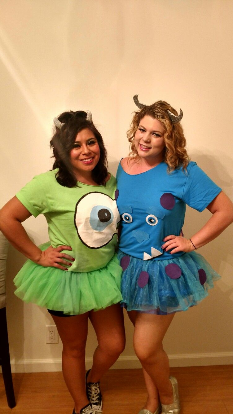 Mike And Sulley Diy Costume Cheap And Easy Emma And Paige