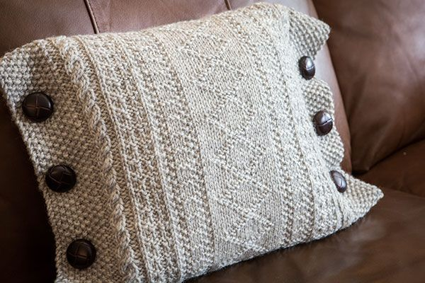 Guernsey Cushions - Knitting Patterns and Crochet Patterns from KnitPicks.com by Edited by Knit Picks Staff