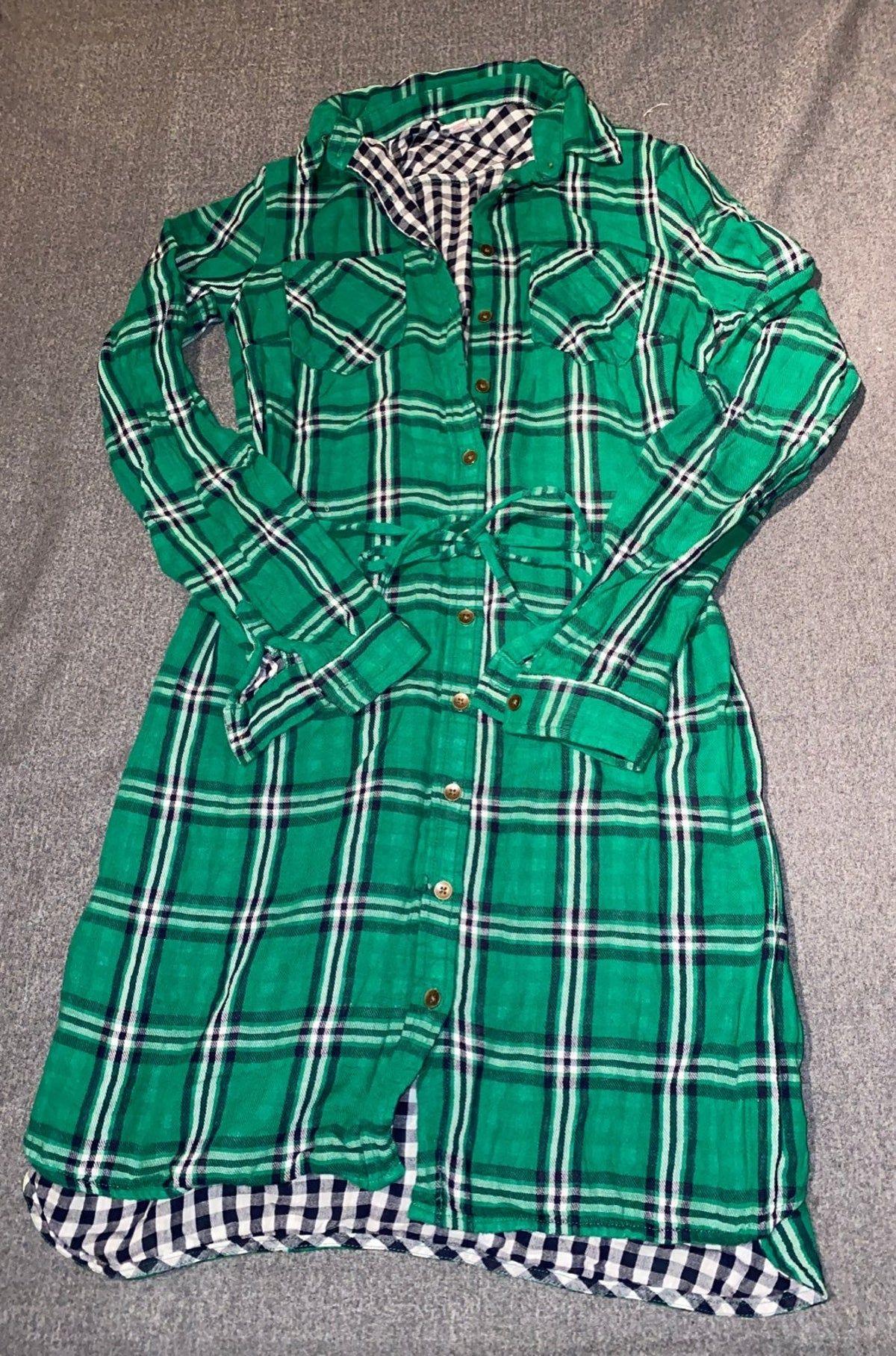 Green Plaid Dress Xs Green Plaid Dress Plaid Dress Dresses Xs [ 1815 x 1200 Pixel ]
