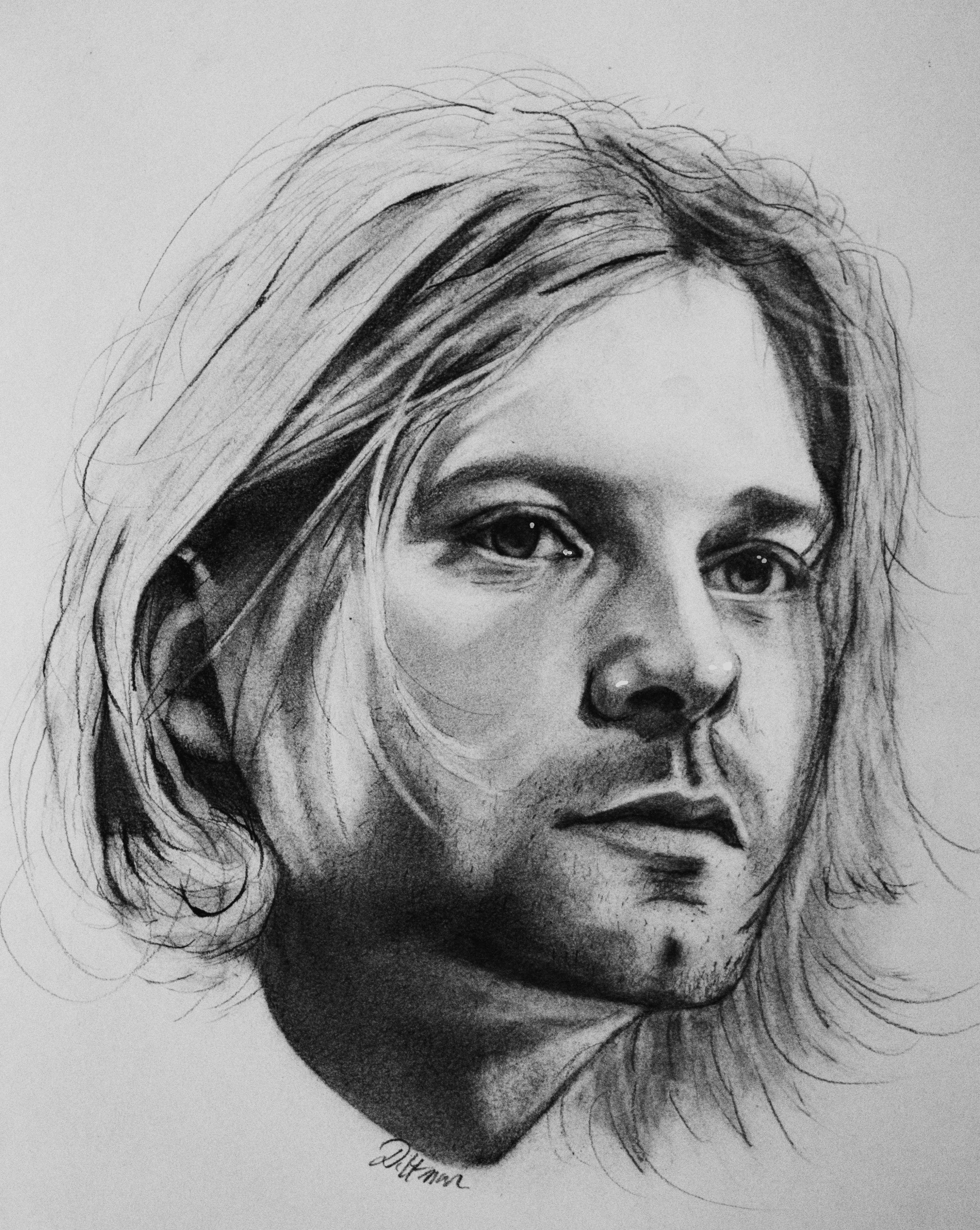 It's just a photo of Gargantuan Drawing Of Kurt Cobain