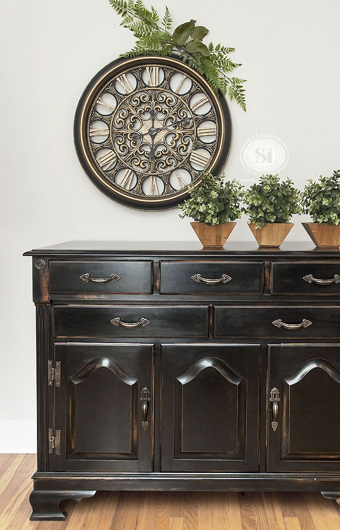 DIY Pottery Barn Knock-Off   80's Buffet Restyle