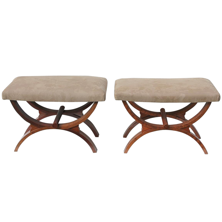 Pair Of Benches By De Coene Ateliers Courtrai Belgique 1940s