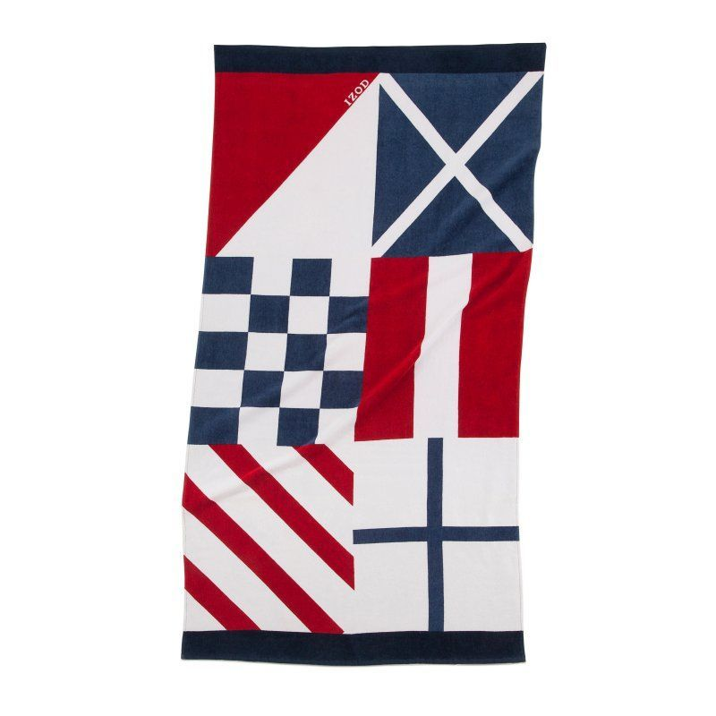 Izod Nautical Flags Beach Towel 7128373 Nautical Flags Beach