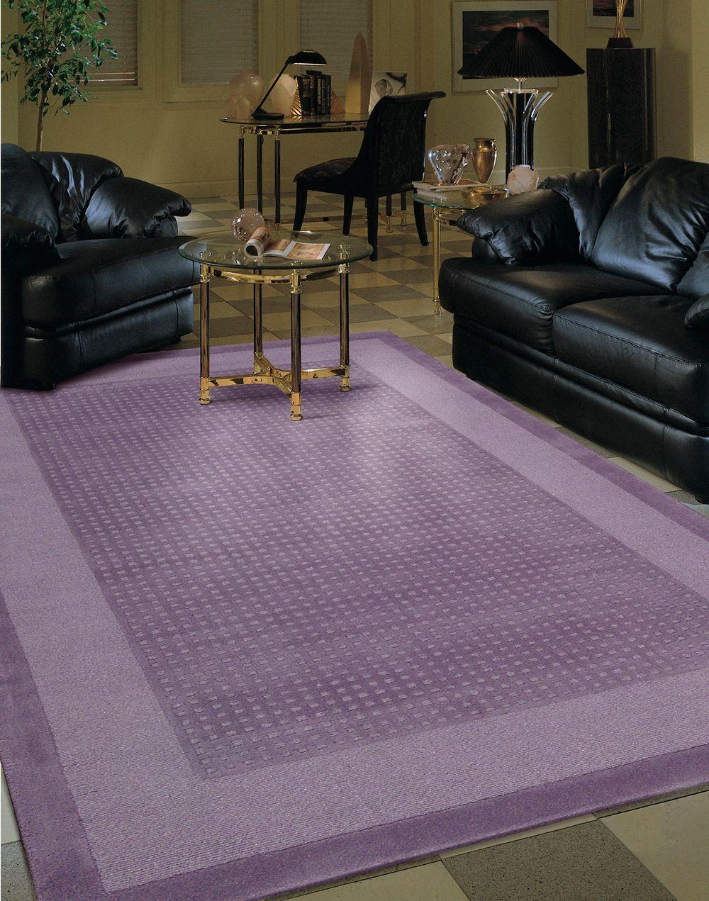 This Light Purple Lavender Area Rug
