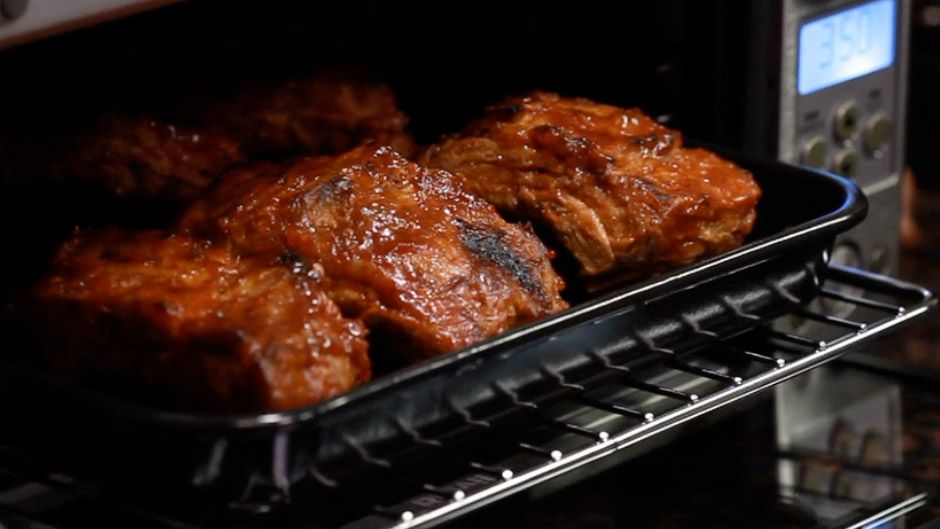 Ribs With Asian Barbecue Sauce Cooking Pork Ribs Air
