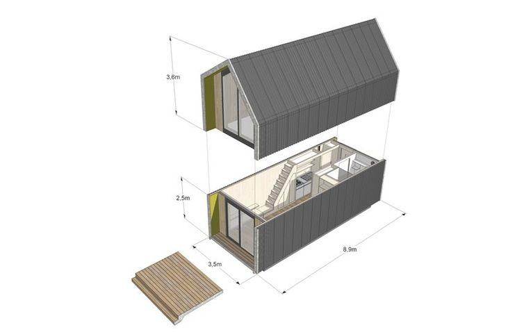 Casa Prefabricada de fácil instalación y alimentada por energía ...