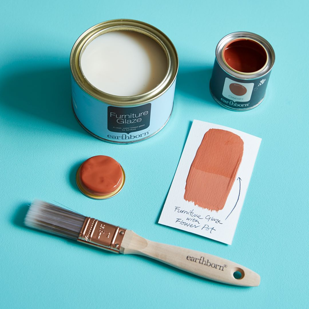 To protect your wonderfully colourful creations, make sure you add a coat of our Furniture Glaze for a glossier finish or Furniture Wax for a more satin-finished look! And don't forget your @earthbornpaints paintbrush 🖌 we have 3 sizes available for projects big and small! More info on these over on our website #linkinbio