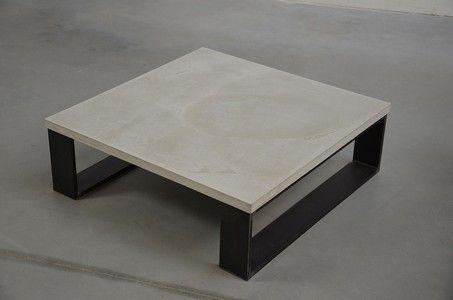echt beton couchtisch industrial hellgrau | for the home ... - Beton Wohnzimmertisch