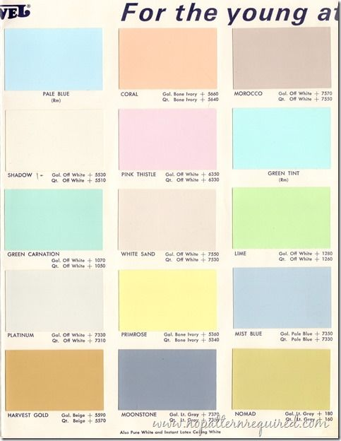 Pastel Wall Colors 50 fun mid-century pastel paint colors from jewel paint & varnish