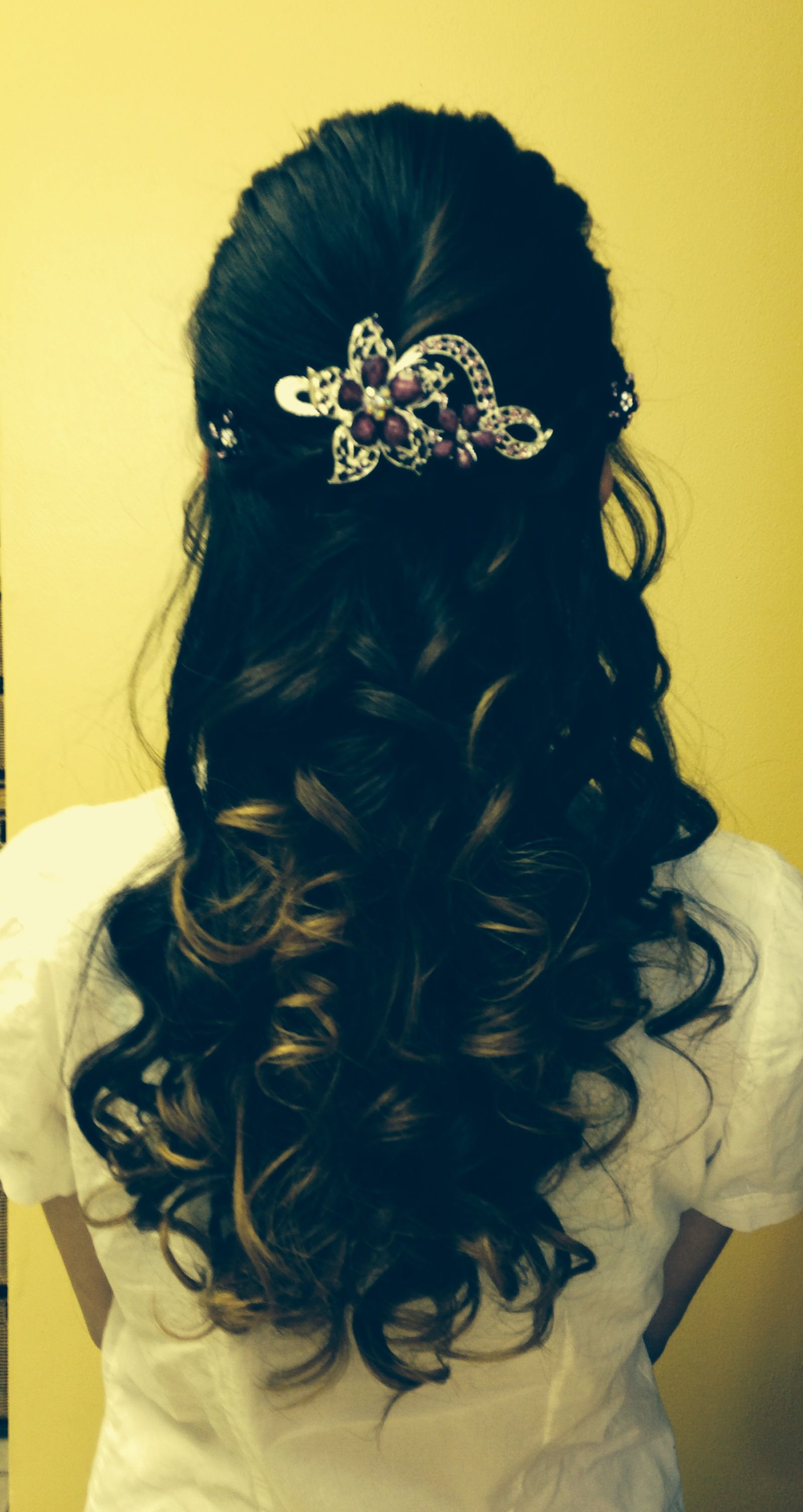 Beautiful half updo for a formal event artiste salon hair styles