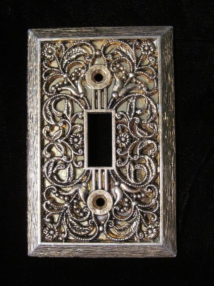 Vintage Solid Br Gold Electrical Light Switch Plate Cover Polished Ornate Covers